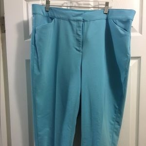 Ruby Road Crop Turquoise Pant Women's 18